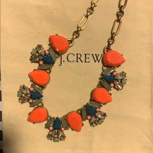 Orange accent jcrew necklace